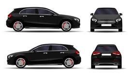 Realistisk bil hatchback Arkivbilder