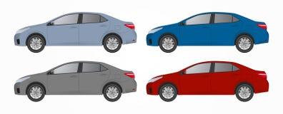Realistisk biluppsättning Royaltyfria Bilder