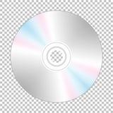 Realistisk cd-skiva bak Arkivbild