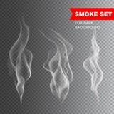 realistisk cigarettrökvektor Arkivfoto