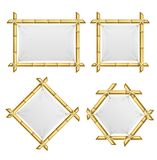 Realistisk 3d specificerad bambuskottramuppsättning vektor Royaltyfri Bild