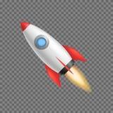 Realistisk 3d specificerade Rocket Space Ship vektor royaltyfri illustrationer