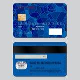 Realistisk detaljerad kreditkort på båda sidor Prövkopiadesignen på temat av utbildning Royaltyfri Bild