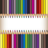 Realistisk färgblyertspennauppsättning Arkivbilder