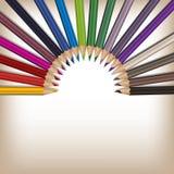 Realistisk färgblyertspennauppsättning Royaltyfria Bilder