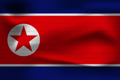 Realistisk flagga av Nordkorea Fotografering för Bildbyråer