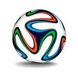 Realistisk fotbollboll Arkivfoton
