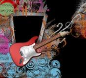 Realistisk gitarr stock illustrationer