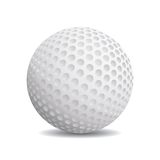 Realistisk golfboll Arkivfoto