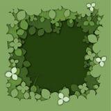 Realistisk grön bakgrund för växt av släktet Trifolium för lagerpapperssnitt royaltyfri illustrationer