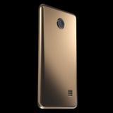 Realistisk guld- Smartphone eller mobiltelefonmall framförande 3d Royaltyfria Bilder