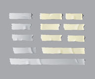 Realistisk isolerad tejpuppsättning för vektor Fotografering för Bildbyråer