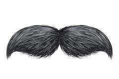 Realistisk isolerad vektorillustration för tappning klassisk retro mustasch stock illustrationer