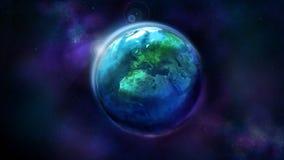 Realistisk jord fr?n utrymme som visar Afrika, Europa och Asien royaltyfria bilder
