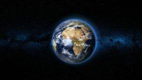 Realistisk jordplanet mot stjärnahimlen Royaltyfria Foton