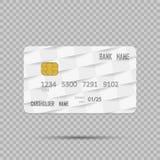 Realistisk kreditkort för mall på transpatent bakgrund med skugga också vektor för coreldrawillustration Arkivfoton