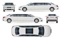 Realistisk limousinevektormodell royaltyfri illustrationer