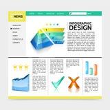 Realistisk mall för Infographic designWebsite stock illustrationer