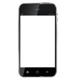 Realistisk mobiltelefon för abstrakt design med mellanrumet Arkivfoto