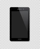 Realistisk mobiltelefon för vektor som isoleras på genomskinlig bakgrund Arkivbild
