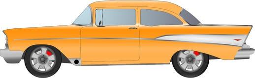 Realistisk modellbil som isoleras på bakgrund Detaljerad teckning också vektor för coreldrawillustration Arkivbilder