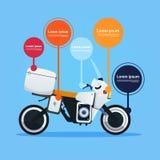Realistisk motorcykel av elkraft för vägcykelbland vektor illustrationer
