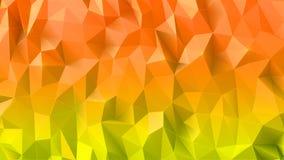 Realistisk mousserande färgrik låg polygonal bakgrund 3d Royaltyfri Illustrationer