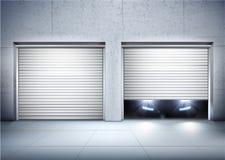 Realistisk sammansättning för garage vektor illustrationer