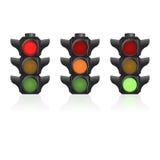 Realistisk semafor Royaltyfria Bilder