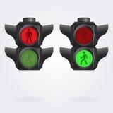 Realistisk semafor Royaltyfria Foton