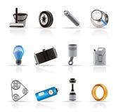 realistisk service för bilsymbolsdelar Arkivfoto