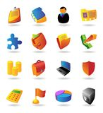 realistisk set för affärssymboler Royaltyfri Foto