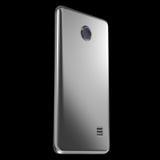 Realistisk silver Smartphone eller mobiltelefonmall framförande 3d Royaltyfri Fotografi