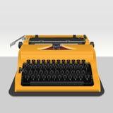 Realistisk skrivmaskin på grå färger Royaltyfri Fotografi
