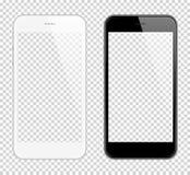 Realistisk smart telefonvektoråtlöje upp Fullständigt Beträffande-format-i stånd Lätt sätt att förlägga bild in i skärmen Smartph stock illustrationer