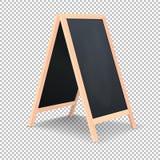 Realistisk special symbol för menymeddelandebräde Bakgrund för svart tavla för ren restaurang för vektor utomhus- Modell av vektor illustrationer