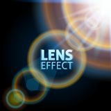 Realistisk ställa in teleskop ljus stråle Effekten av solsignalljuset Ljus belysning också vektor för coreldrawillustration Arkivfoton