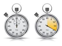 realistisk stopwatch Arkivfoto