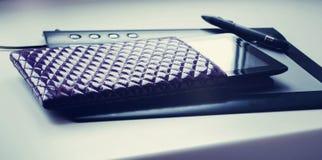 Realistisk tabletPC Arkivfoton