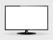 Realistisk TVskärmåtlöje upp vektor illustrationer