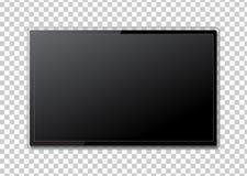 Realistisk TVskärm Modern stilfull LCD-panel, LEDD typ Stort c stock illustrationer