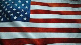 Realistisk Ultra-HD flagga av USA som vinkar i vinden Sömlös ögla med högt detaljerad tygtextur vektor illustrationer