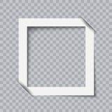 Realistisk vektor för fotoramsamling Arkivfoton