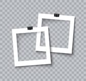 Realistisk vektor för fotoramsamling Arkivbilder