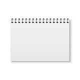 Realistisk vektoranteckningsbok Royaltyfri Bild