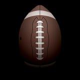 Realistisk vertikal illustration för amerikansk fotboll Royaltyfri Bild