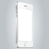 Realistisk vit mobiltelefon Vektorillustration EPS10 Arkivfoton