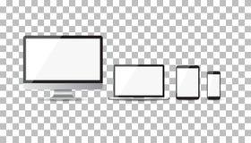Realistiska apparatlägenhetsymboler Arkivbilder