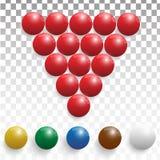 Realistiska Billiardbollar royaltyfri illustrationer