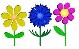 Realistiska blommor. royaltyfri illustrationer